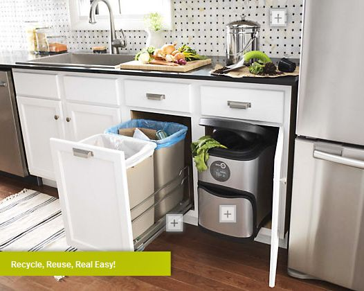 Kitchen Trash And Recycle Bins: Recycle And Compost In Your Kitchen This Winter
