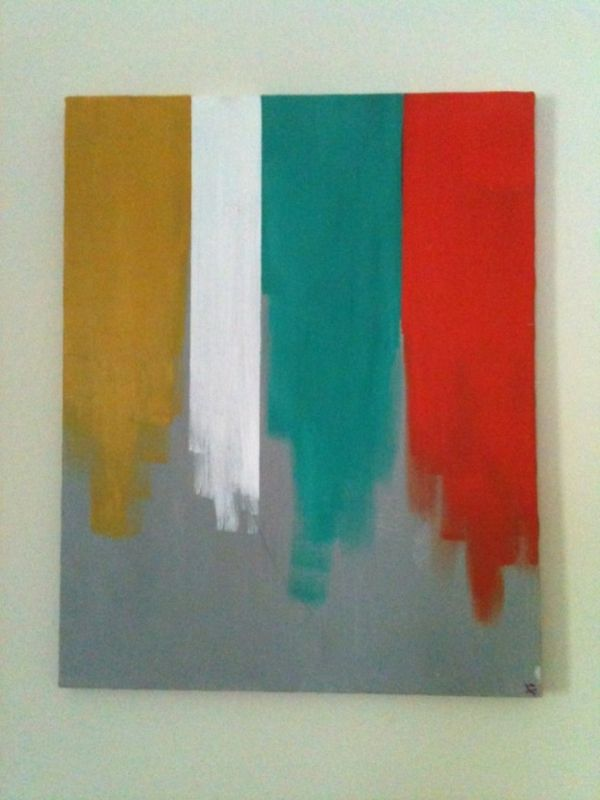 diy streifen farben moderne Leinwandbilder farben