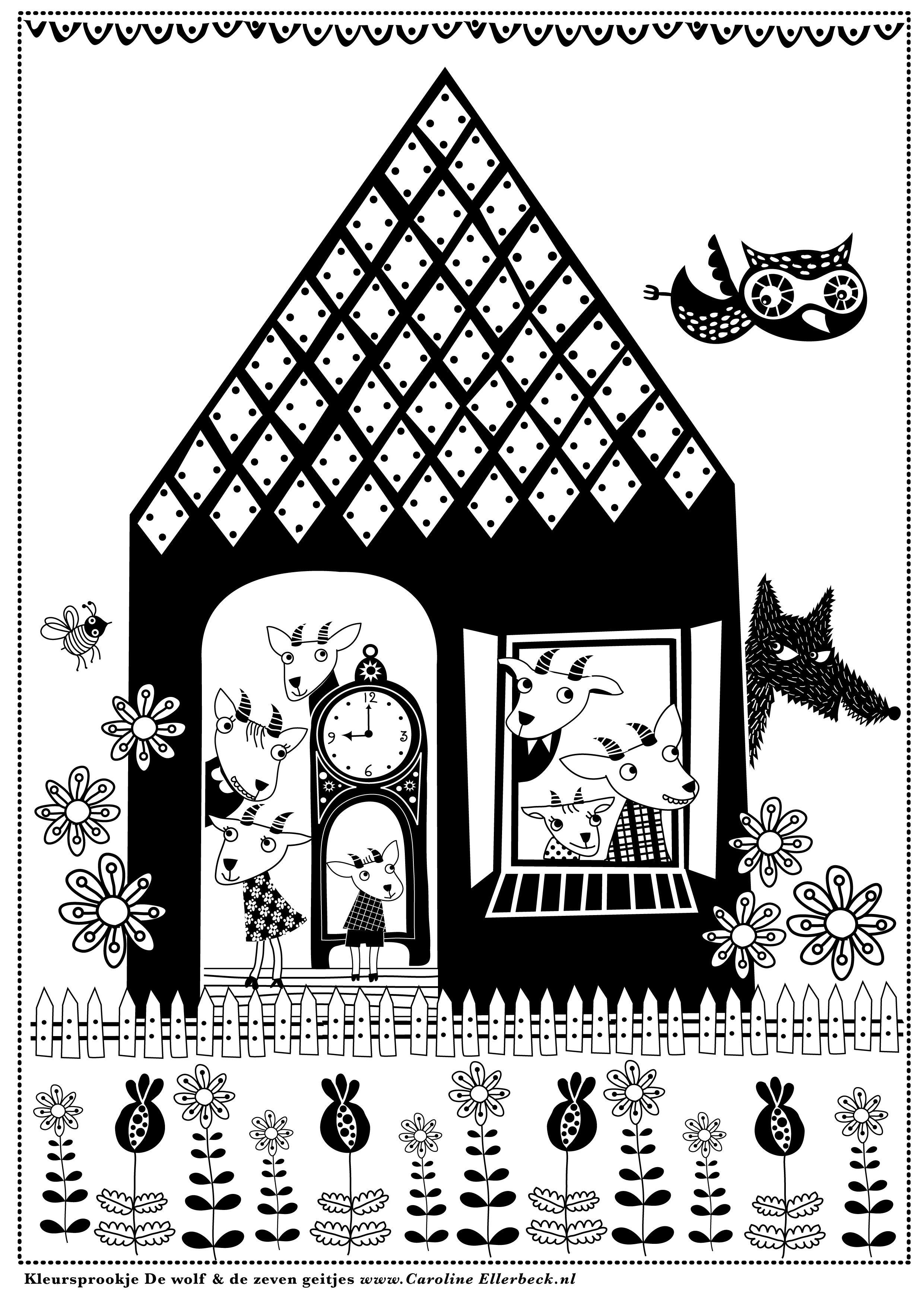Pas Op Voor De Wolf Nieuw Sprookjes Illustrator Wolf
