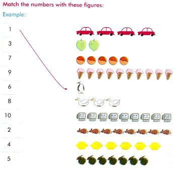 matching numbers worksheets,worksheets by counting the objects ...