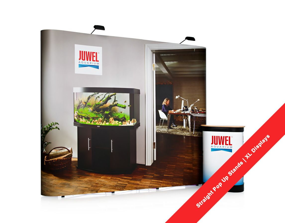 Marketing Exhibition Stand Alone : Straight pop up stands are the ideal portable exhibition display