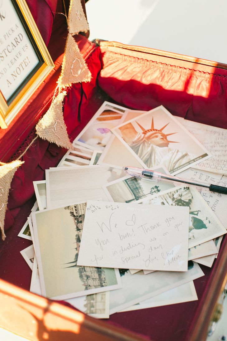 Travel-Themed Post Card Guest Book | Onelove Photography https://www ...