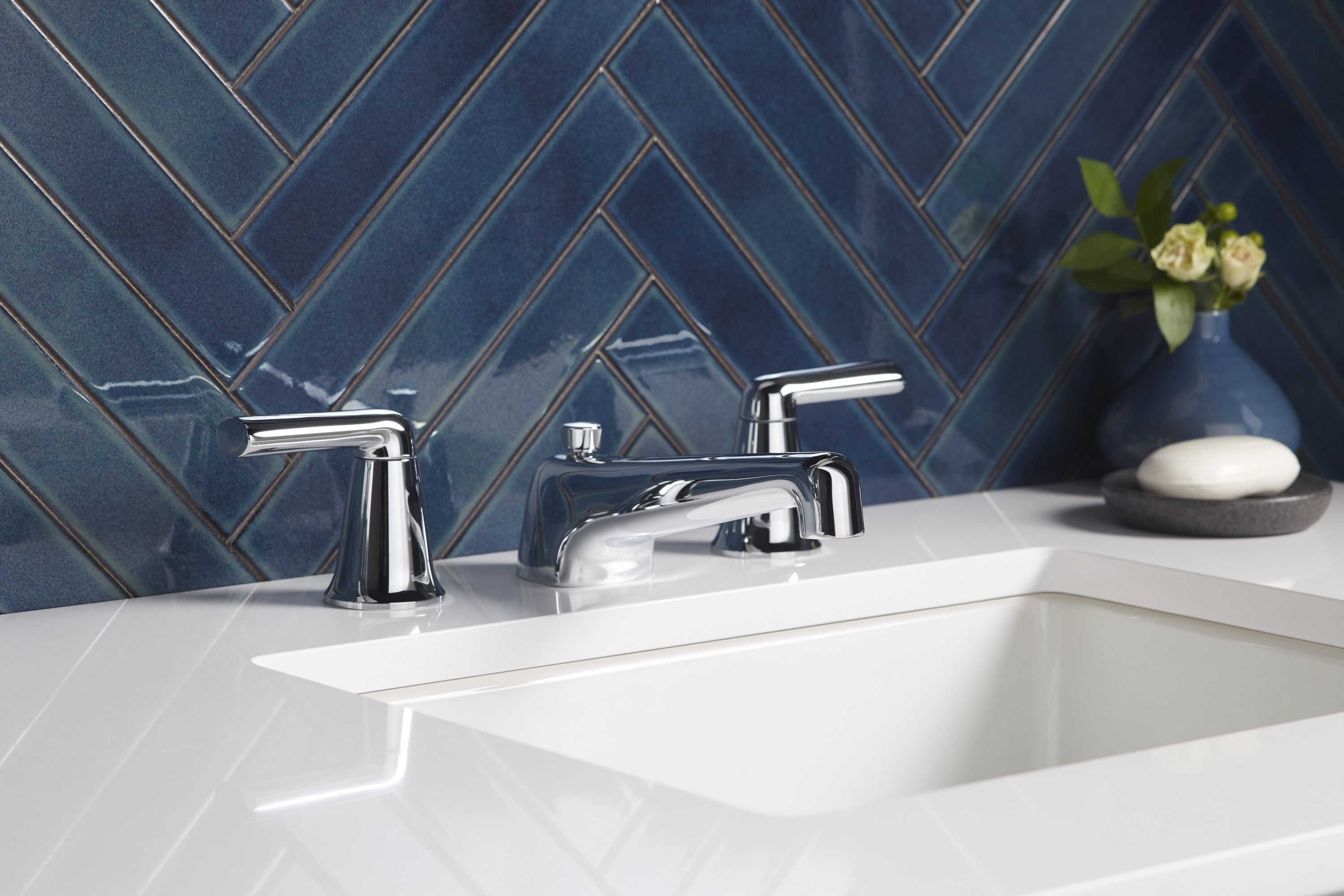 Counterpoint Sink Faucet with Lever Handles | COUNTERPOINT | BY ...