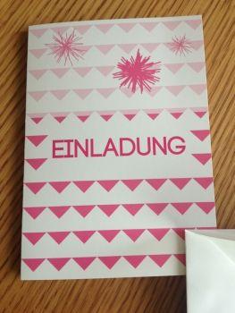 Einladungskarte mit gefüttertem Luxoprint-Umschlag