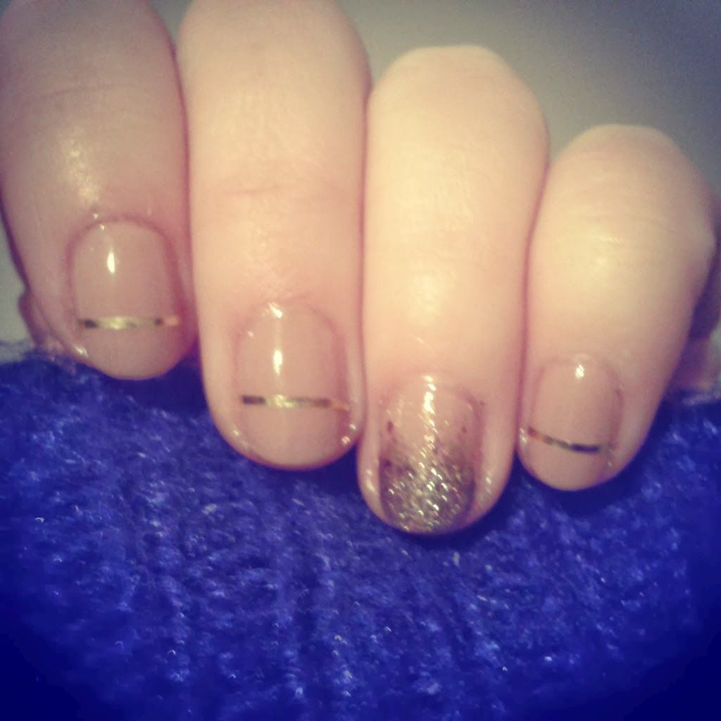 Nude and Gold Nails: Fuschia Notebook | Beauty | Pinterest | Gold nail