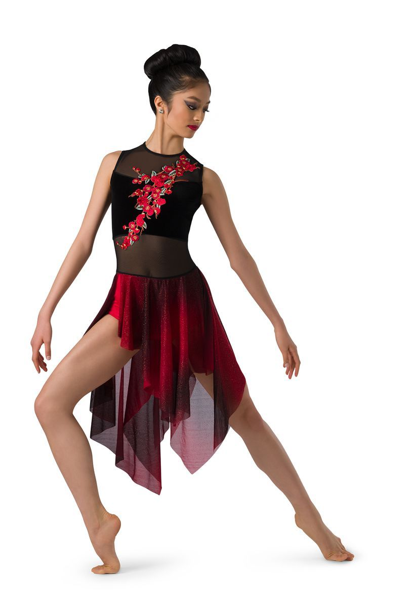 Girls Jazz Latin Lyrical Ballroom Dress Shiny Ballet Contemporary Dance Costumes