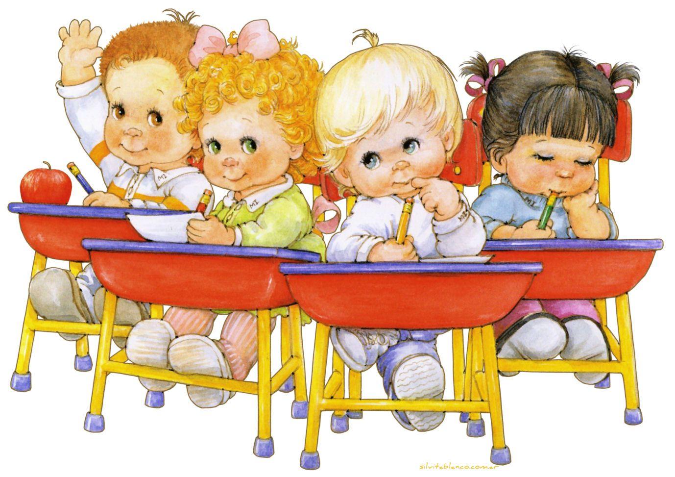 Рисунки про детей в детском саду