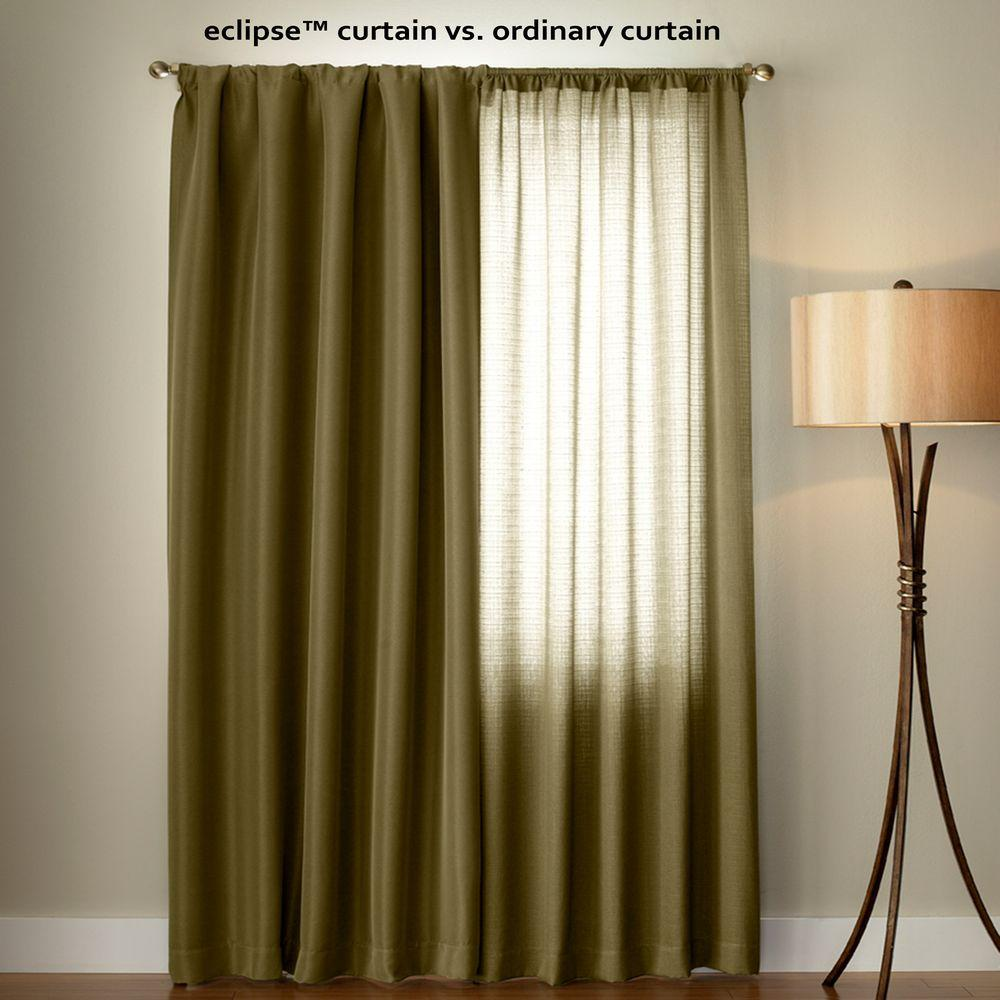 Eclipse Canova Blackout Window Curtain Panel In Burgundy 42 In W X 63 In L 10299042x063bu The Home Depot Panel Curtains Eclipse Curtains Curtains