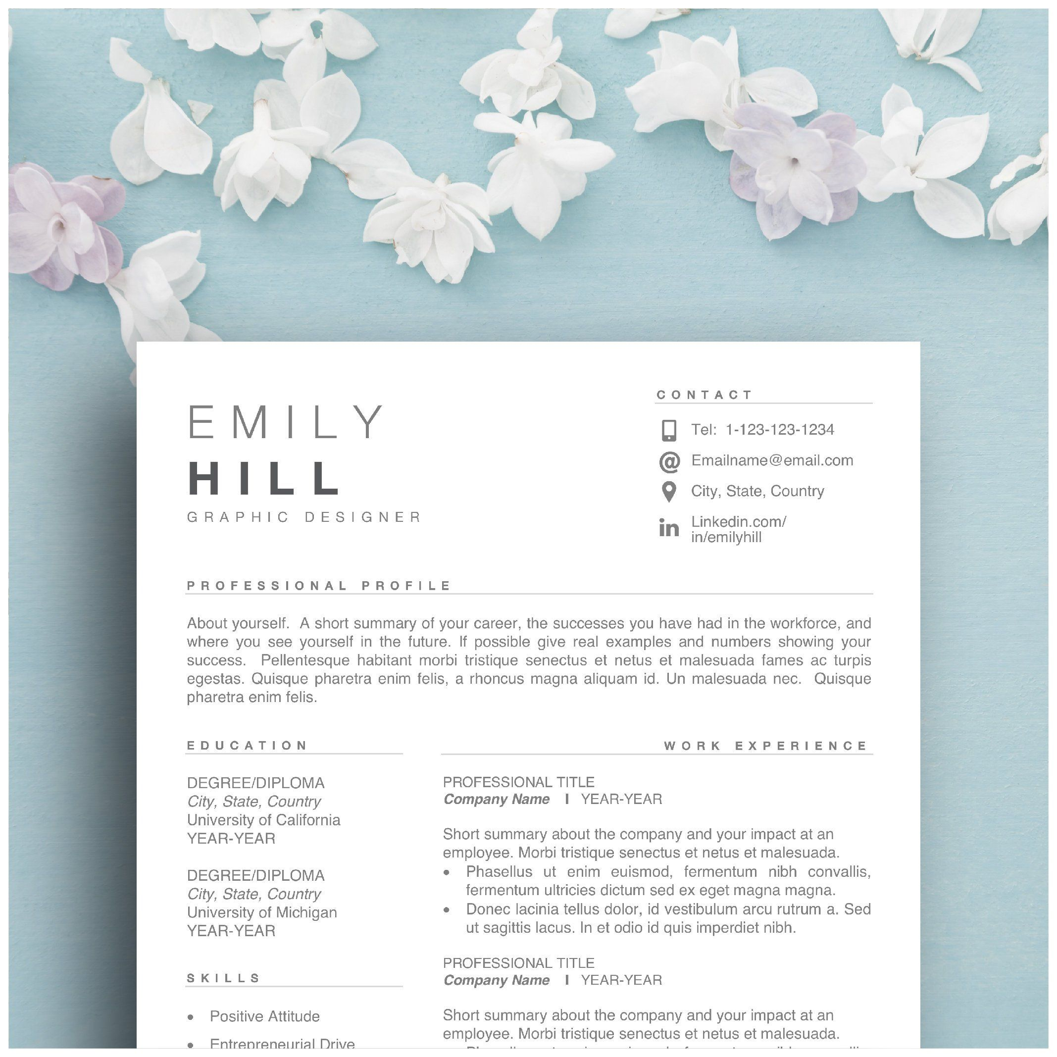 Best resume template for word mac pages 1 2 3 page