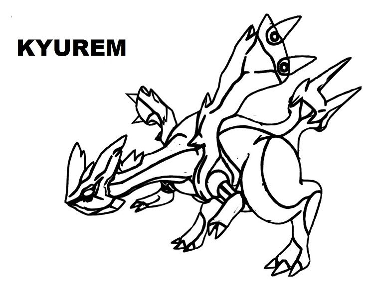 Pokemon Coloring Pages Kyurem Pokemon Coloring Pages Pokemon