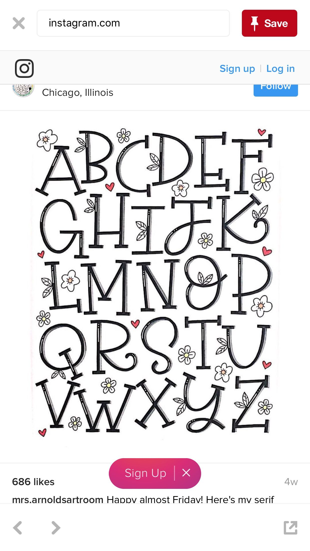 Abecedario Tipos De Letras Bonitas