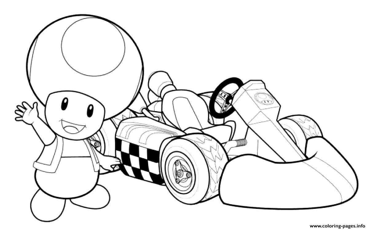 Print Toadette Mario Kart Coloring Pages Toad Mario Kart Coloring Pages Mario Kart
