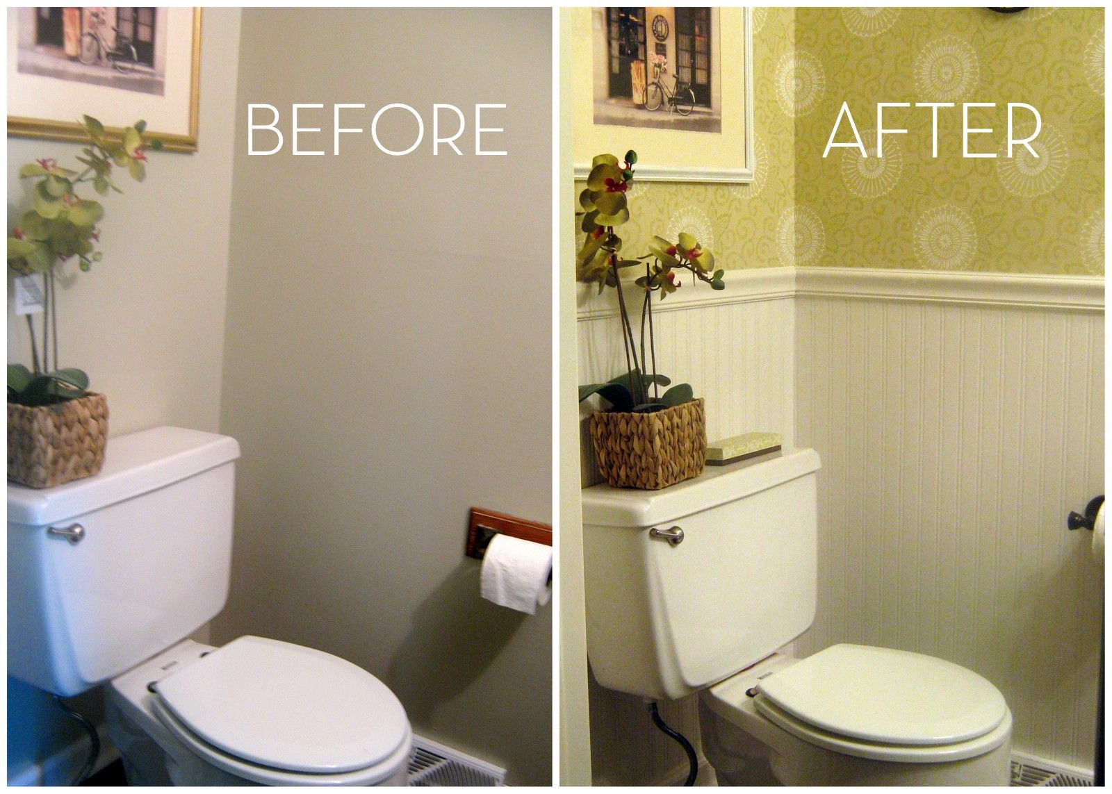 In Love With Wallpaper Small Bathroom Colors Guest Bathroom
