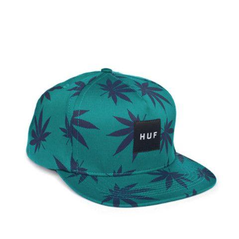 Huf Plant Life Box Logo SnapBack Teal