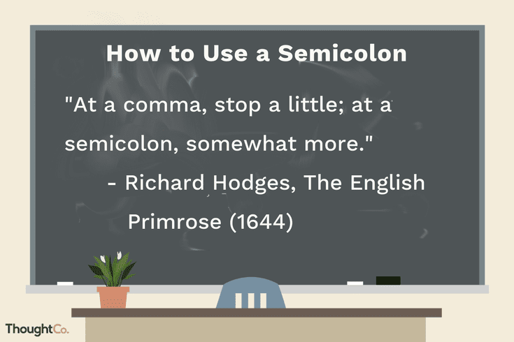 Punctuating With Semicolons Avoiding The Full Stop Semicolon Semicolon Punctuation Teacher Resume Examples