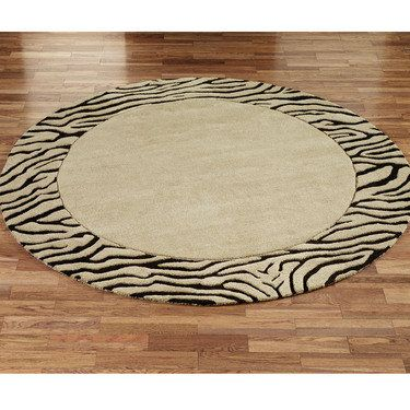 Zebra Border Round Rug Is So Cly