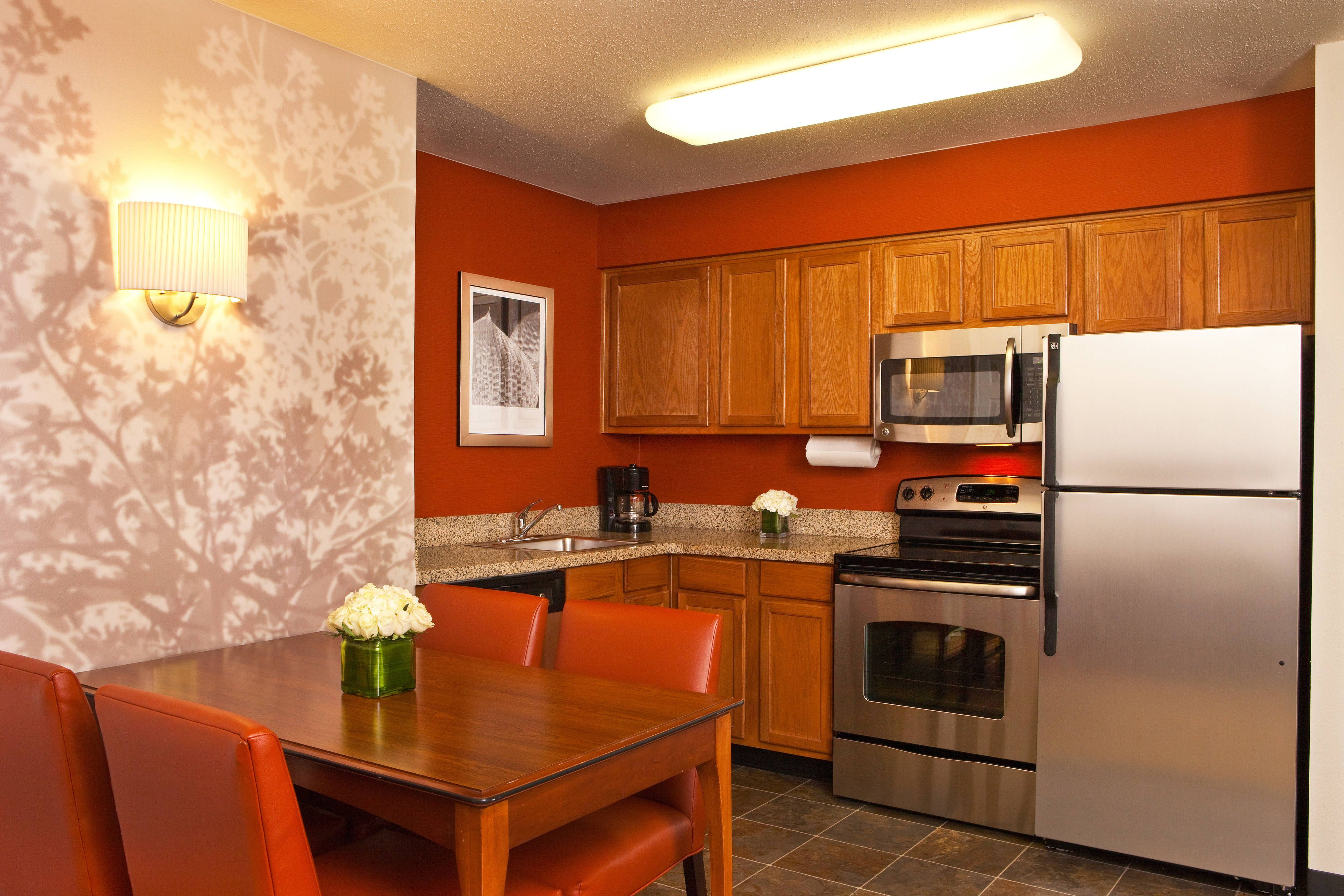 Residence Inn Greenbelt TwoBedroom Suite Kitchen