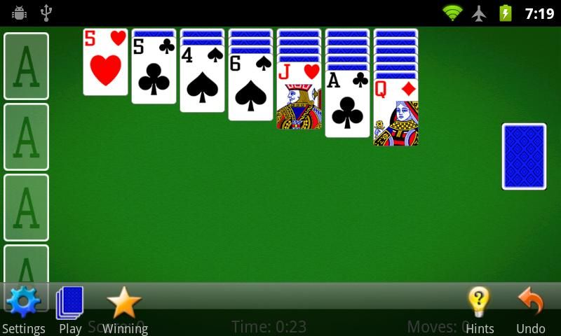 No Useful Moves Detected Playing Solitaire Solitaire Card Game App