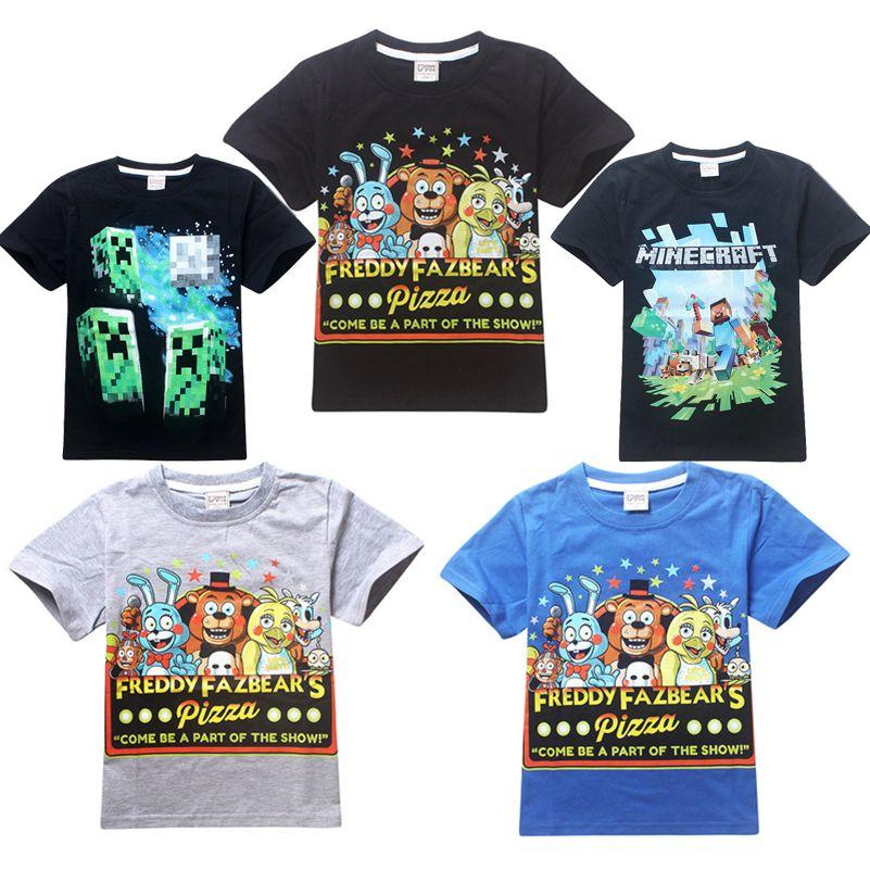 f56c99444f3f5 Boy Clothes Cartoon Children t Shirts Five Nights At Freddy's ...