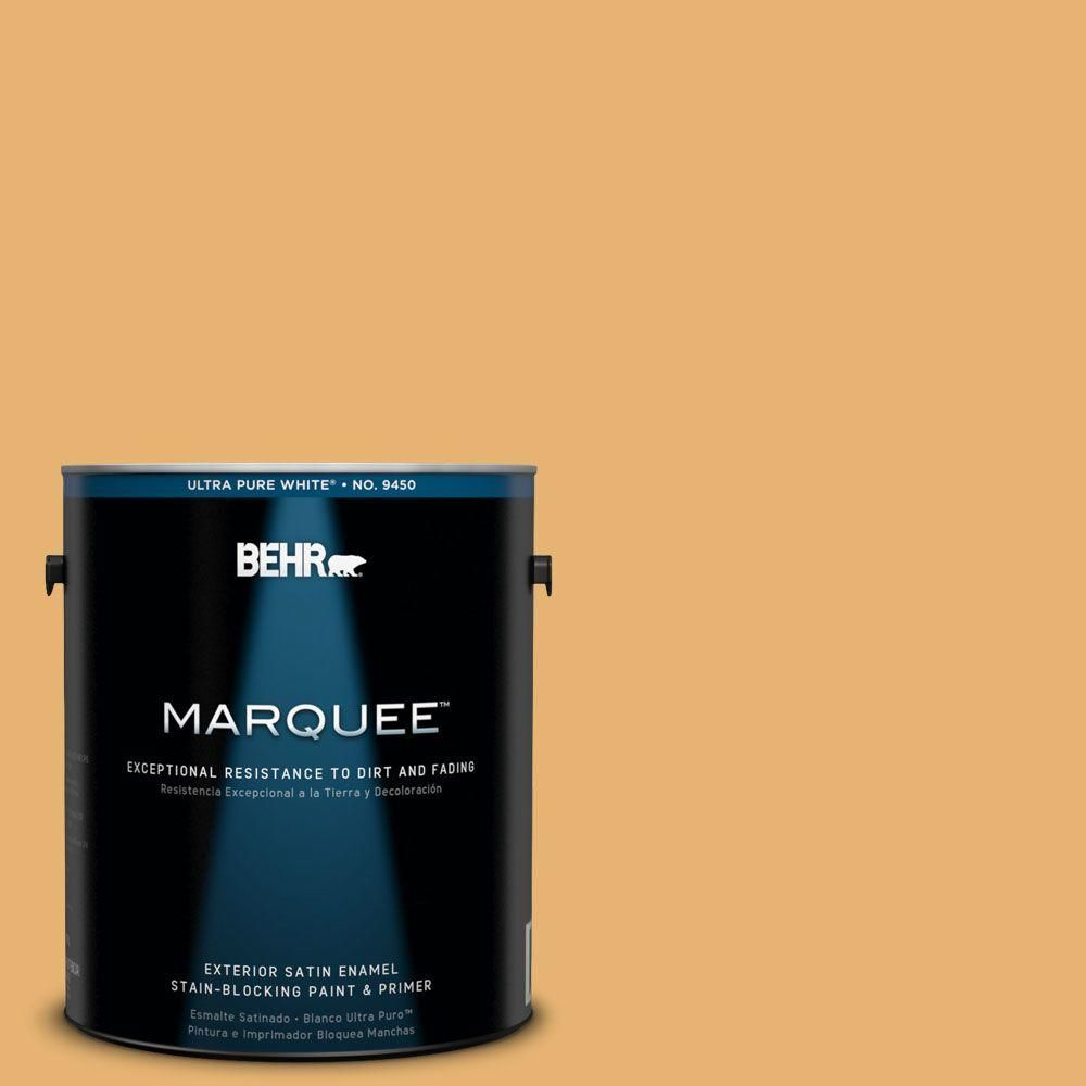 BEHR MARQUEE 1-gal. #PPU6-4 Pyramid Gold Satin Enamel Exterior Paint