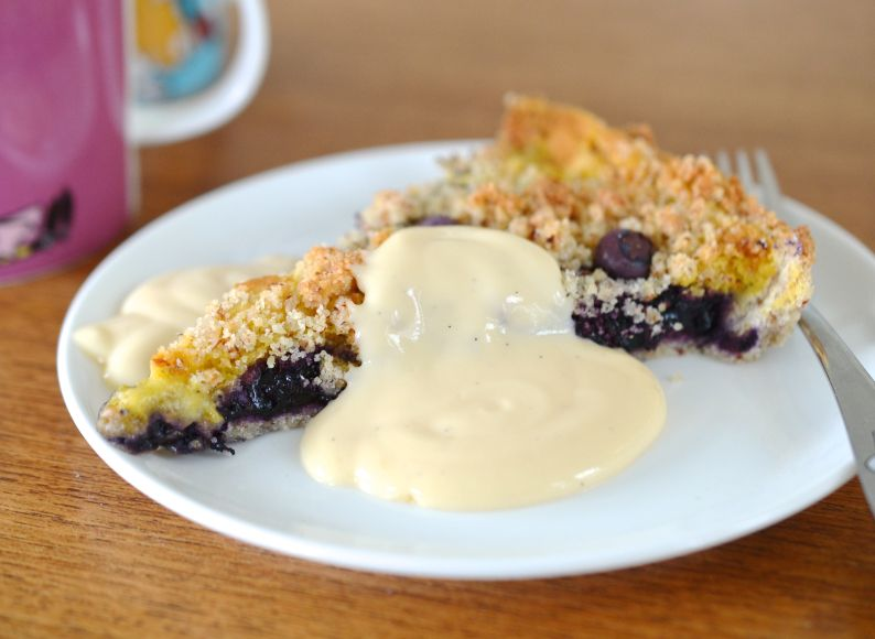 Utrolig god blåbærpai som kan bakes både med og uten sukker - nam!   Incredibly tasty blueberrypie, baked with og without sugar! (LCHF, lowcarb)