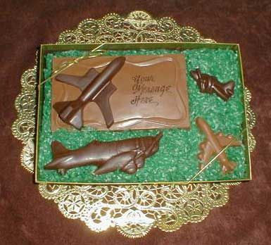The Chocolate Vault: Molded Chocolate Airplanes, Planes, Jets, Airliner, Prop Planes, Propeller