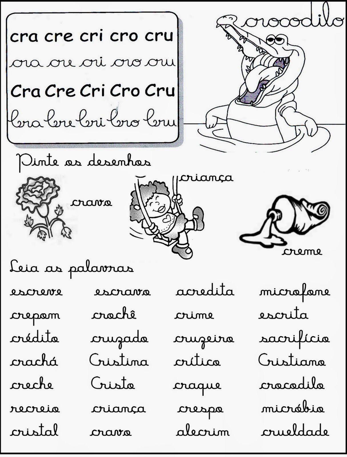 Profª Adriana Alfabetizando Com Amor Fichas De Leitura Silabas
