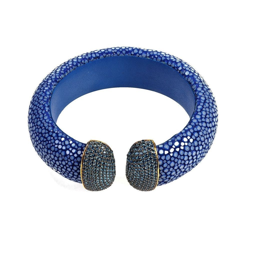Stingray Cuff Gold - Royal Blue (Blue)