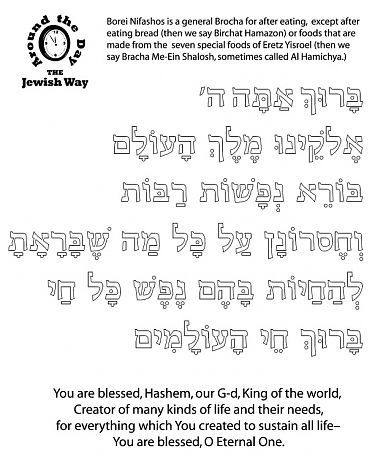 photograph regarding Birkat Hamazon Text Printable identify :: Brachos Coloring Sheets Brachot and Tefilot