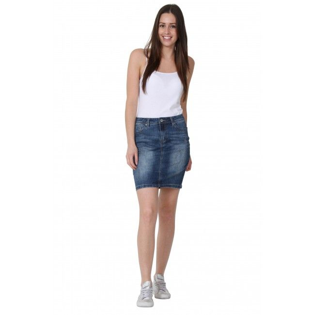 Short Denim Skirt. Trisha. Denim Mini skirt. #jeanskirt | Girls in ...