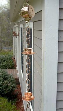Give Your Downspouts A Makeover Rain Chain Copper Rain Chains Decorative Downspouts