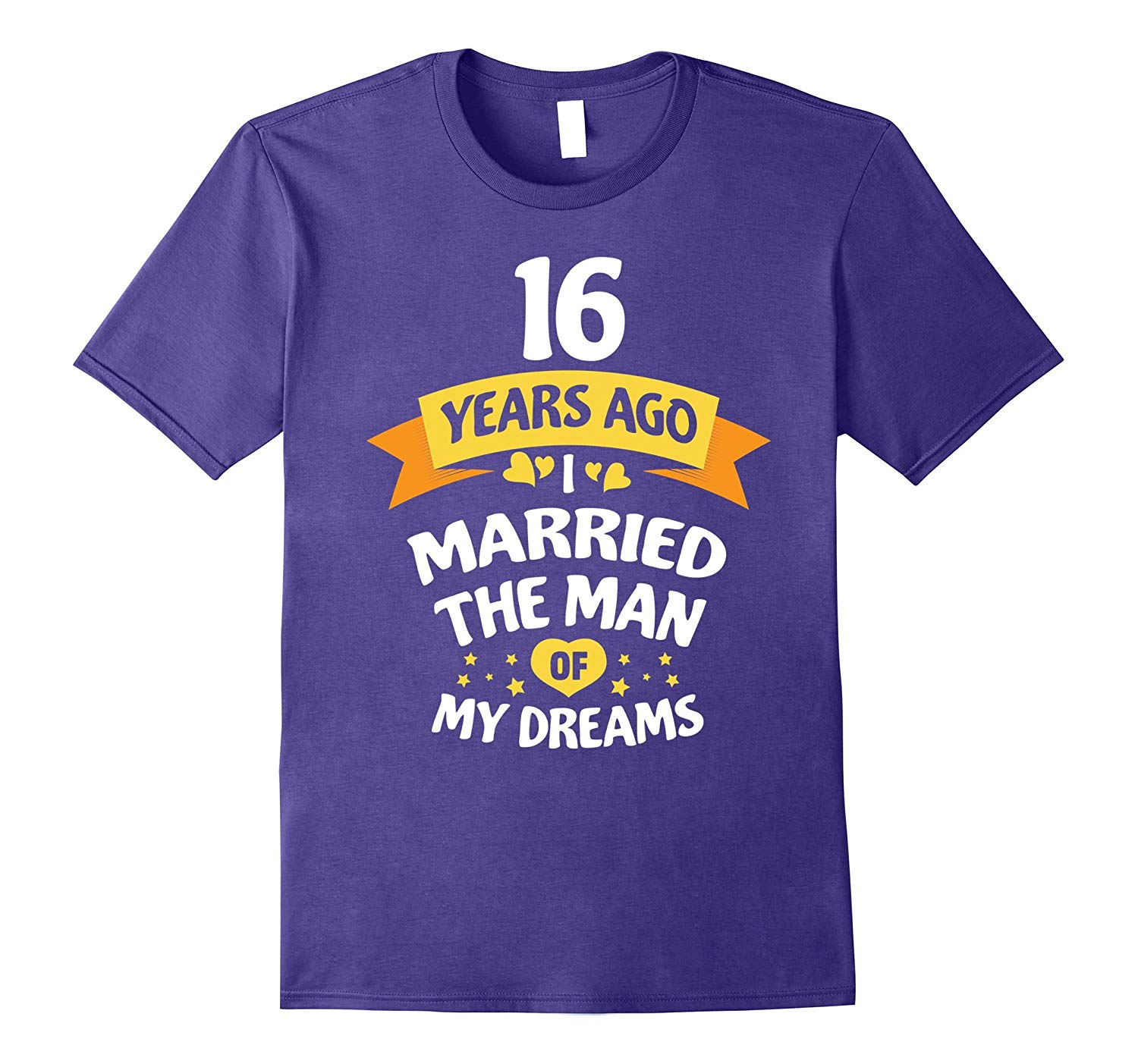 16th Wedding Anniversary Gift for Her 16 Years TShirt