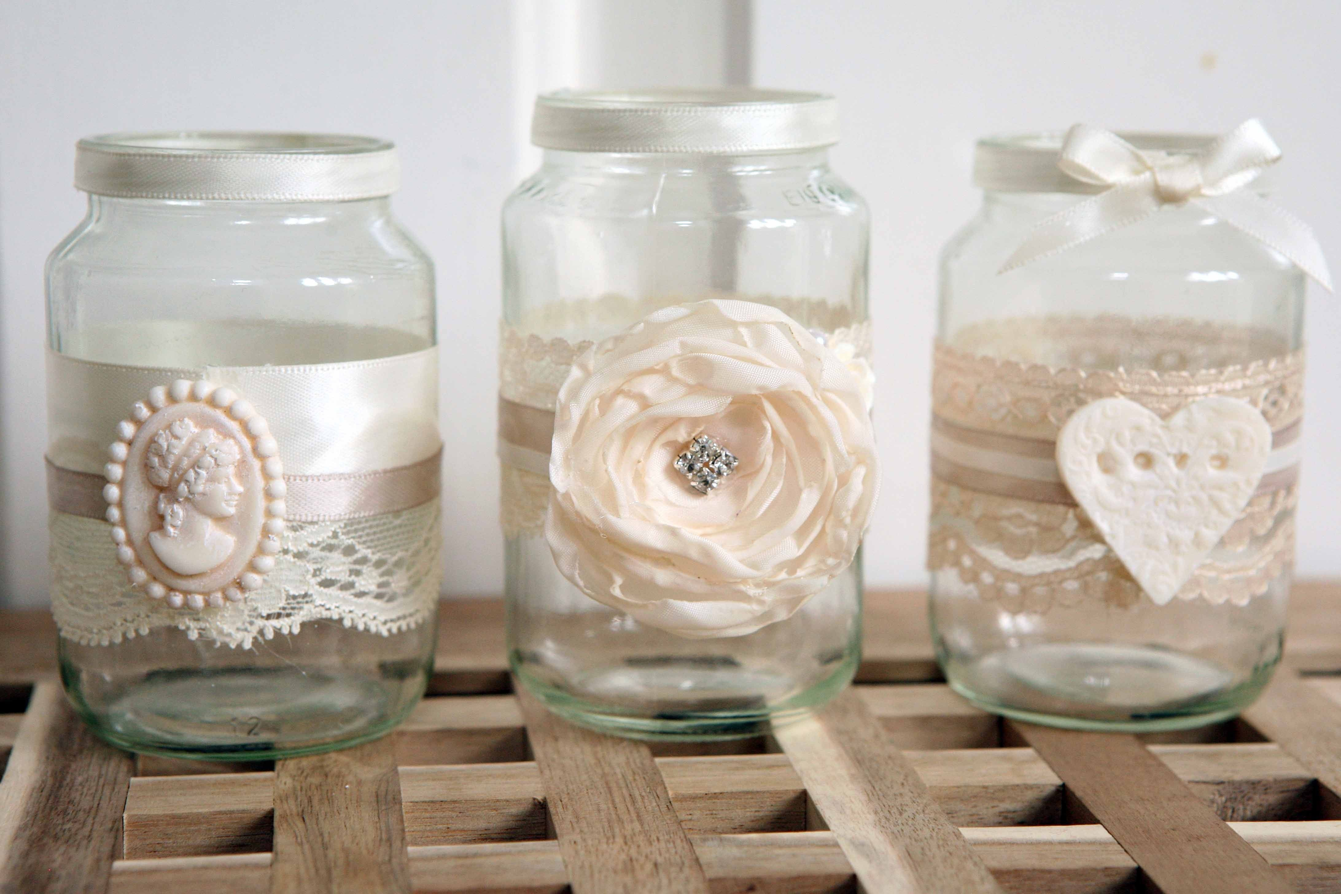 Bouquets, Photobooth props & stationery - Shabby Chic Jam Jars ...