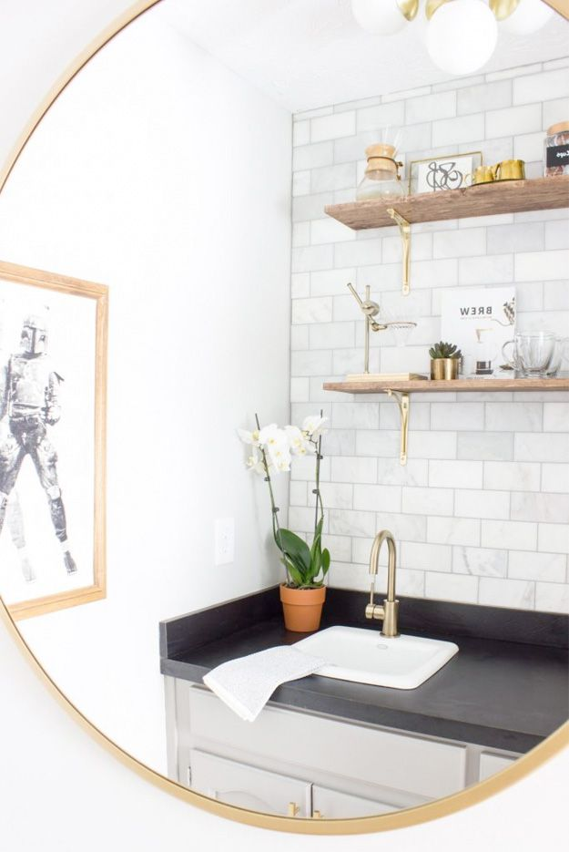 One Room Challenge Linking Participants Favorites Part 1 Home Bar Designs Coffee Bar Small Bathroom Plans One room challenge linking participants