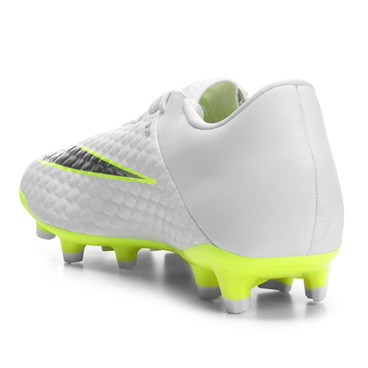 ff63431ec0306 Chuteira Campo Nike Hypervenom Phantom 3 Academy FG - Branco e Cinza - Compre  Agora