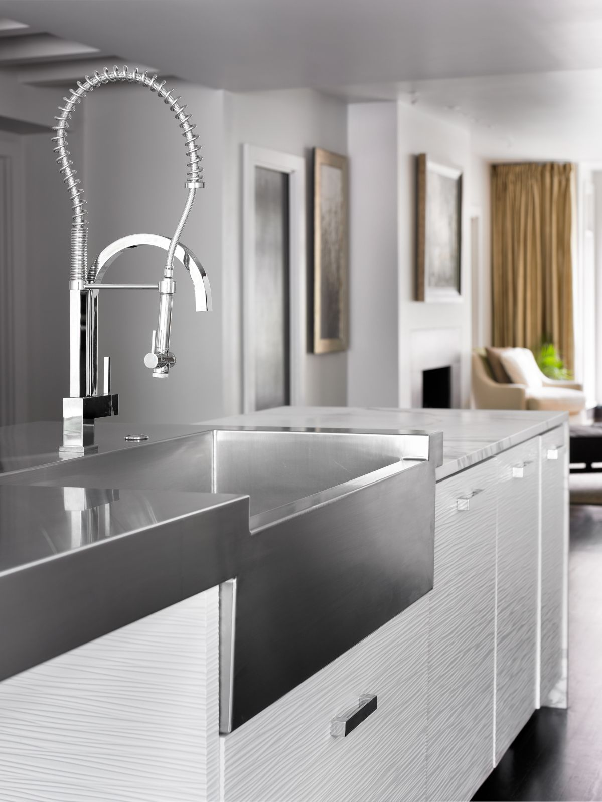 custom wave panels Kitchen sink design, Kitchen sink
