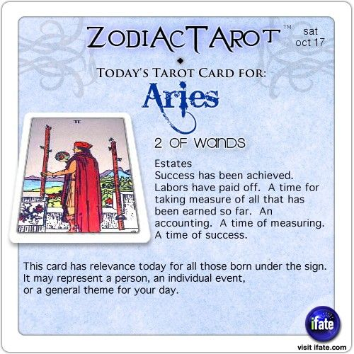 Zodiac Tarot for October 17: Aries <br>  http://ifate.com
