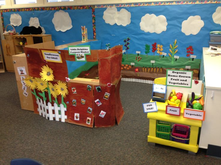 Preschool Dramatic Play Garden Growing And Changing Farmers Market This Area
