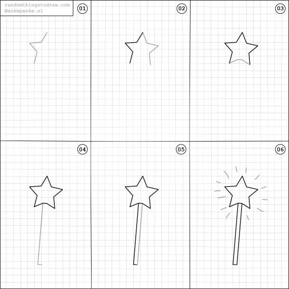 How to draw a magic wand. | Drawing | Pinterest | Wand, Fun things ...