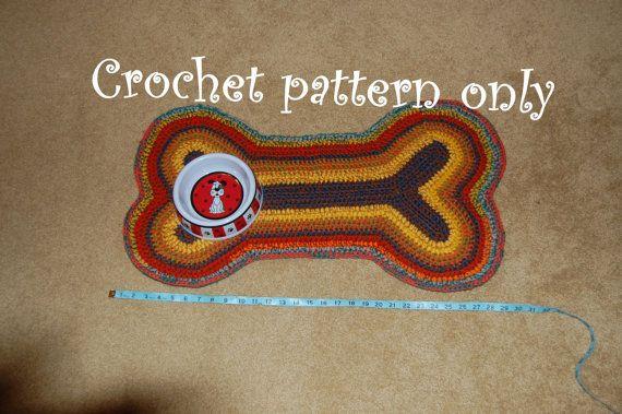 Dog Bone Shaped Rug Or Mat Love It Crochet Dog Sweater Crochet Dog Crochet
