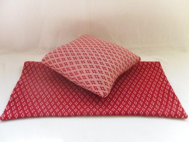 Ruby Red & Rose Pram Blanket Set, 100% Merino wool (range of colours available) £55.00