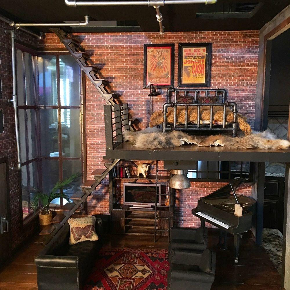 Urban Loft Dollhouse Renovation Part II #loftdesign