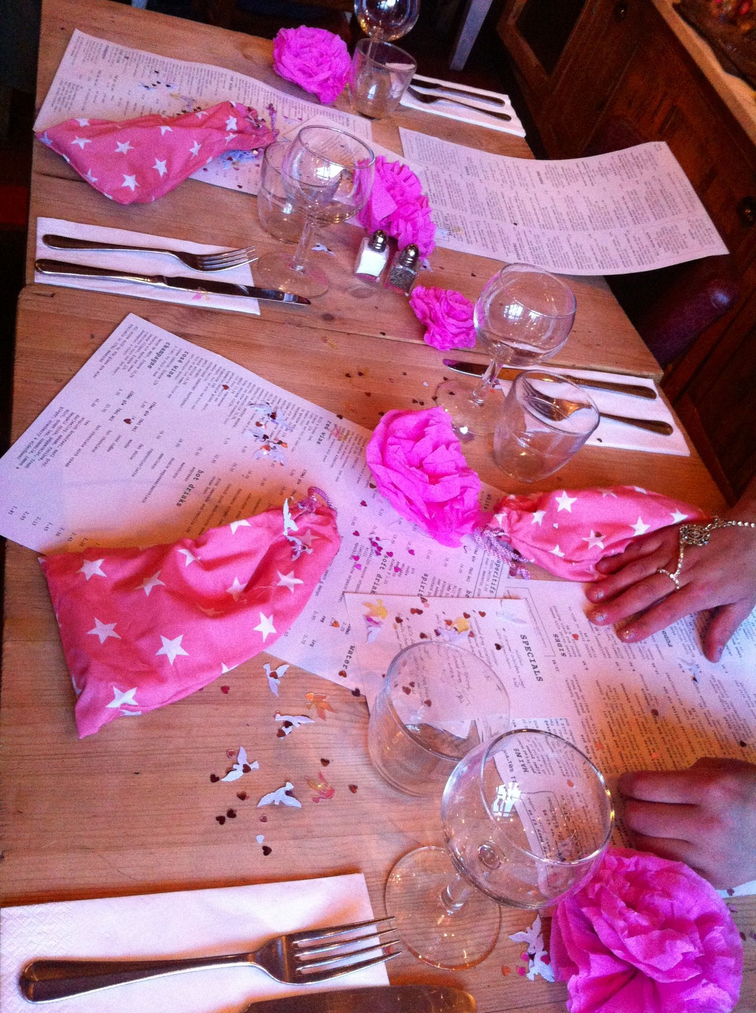 Homemade Star Party Bags Picture Perfect Table Decorations Pink Hen