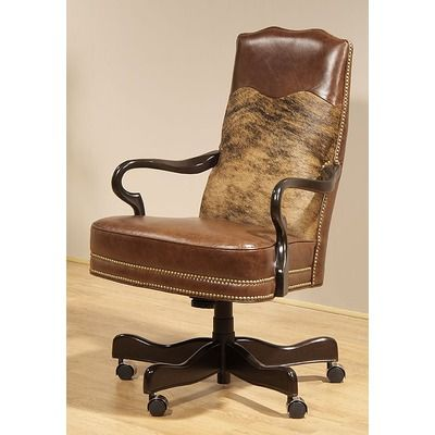 Perfect Cowhide Desk Chair   Yes Please