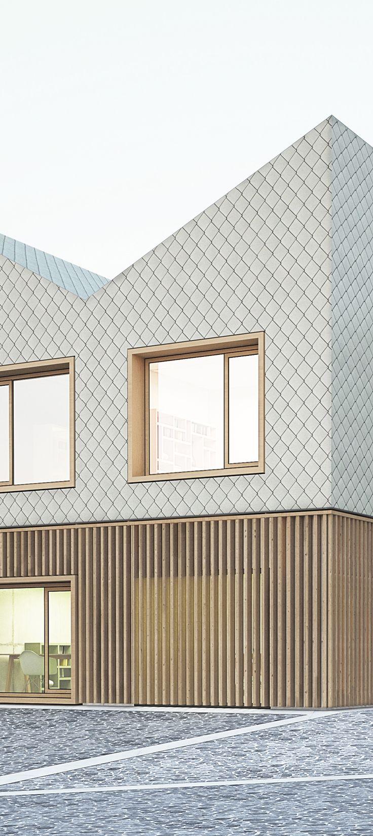 Haus Der Kleinen Füße, Wettbewerb, 1. Preis | Michels Architekturbüro  Georgsmarienhütte Lamellenverkleidung Aus Holz Holzfassade Rautenförmigen  Metu2026