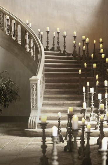 Castle Like Candle Staircase Stairways Stairs