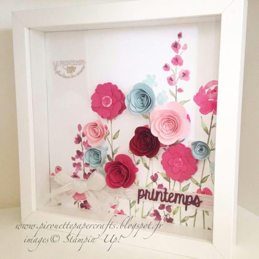 Pin by Deanna Smith on Flowers | Pinterest | Shadow box, Cricut and Box