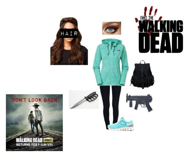 My Aunt In The Walking Dead by awesomekittypower on Polyvore featuring moda, The North Face, STELLA McCARTNEY, NLY Accessories, Maybelline and Tiffany & Co.