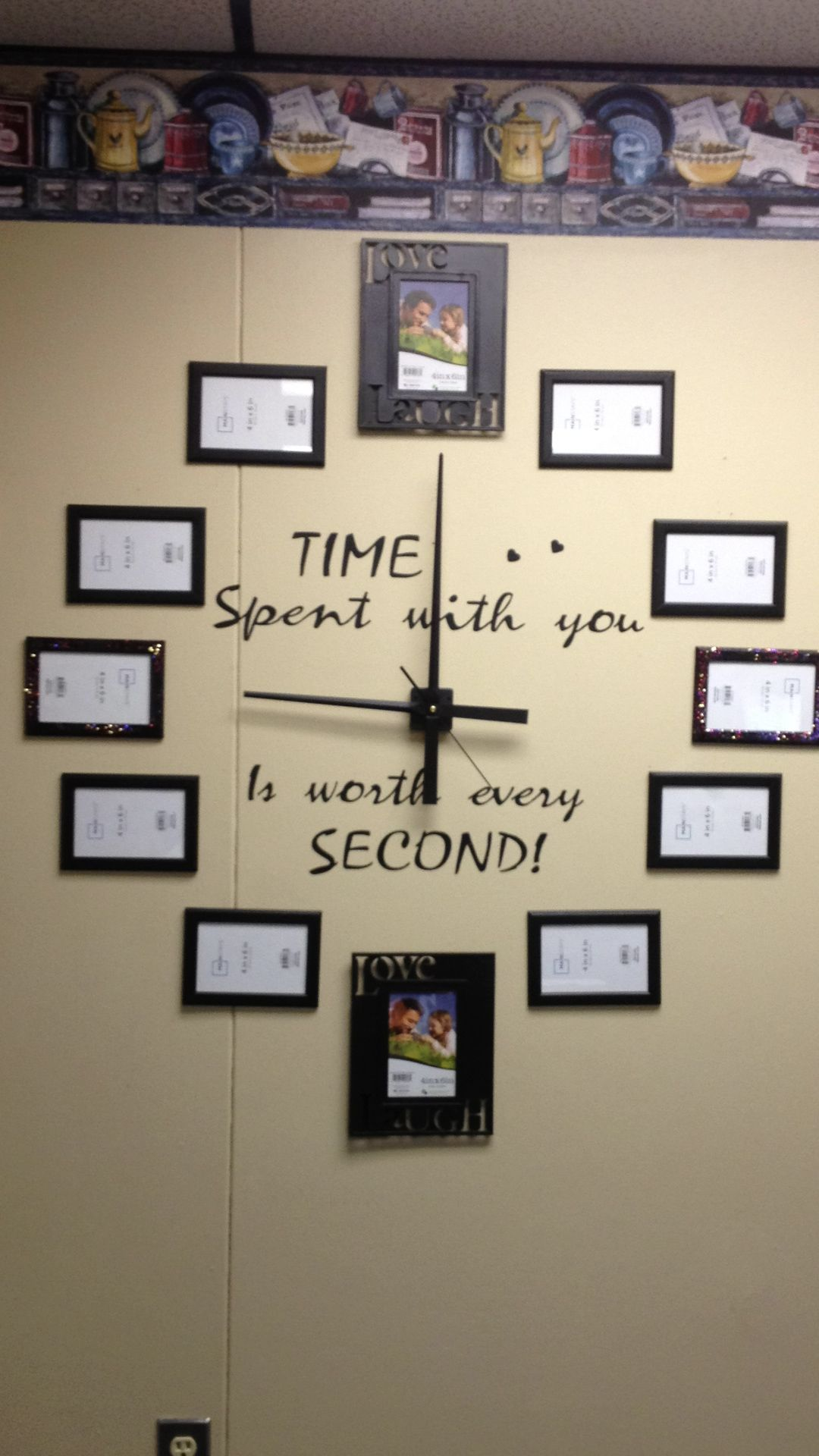 Just Made The Wall Clock With Picture Frames For My