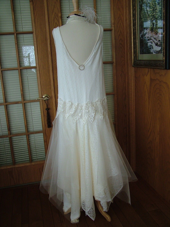 Handmade wedding dress  Wedding dress Custom handmade Vintage Wedding dress s Flapper